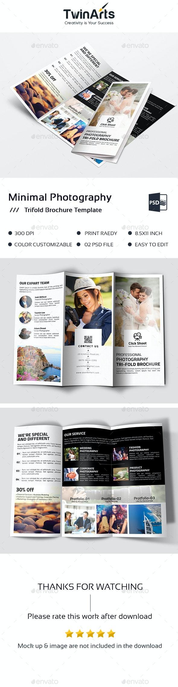 Minimal Photography Trifold Brochure - Brochures Print Templates