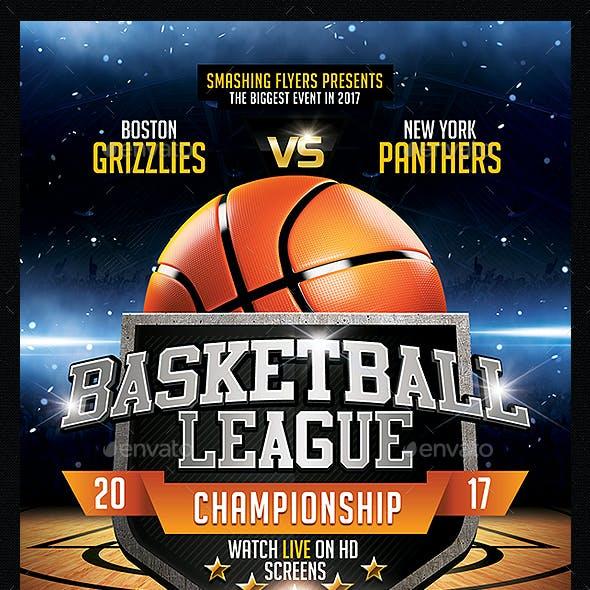 Basketball League Flyer Template