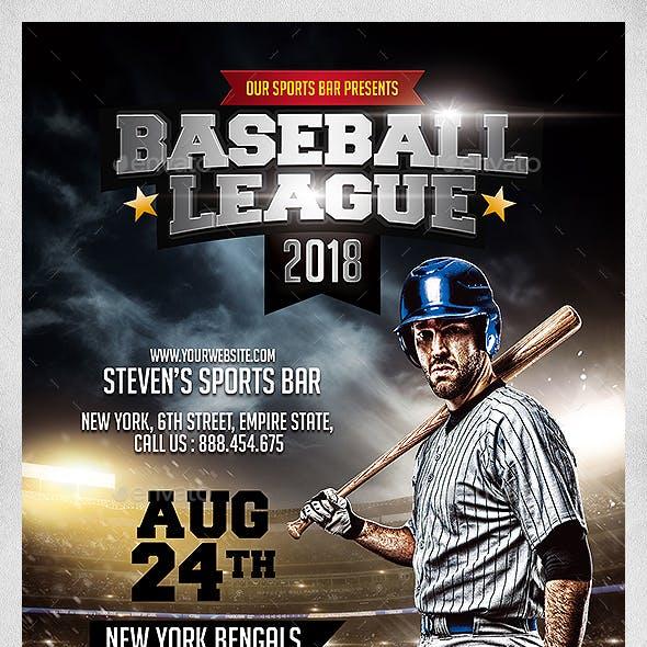 Baseball League 2018 Flyer