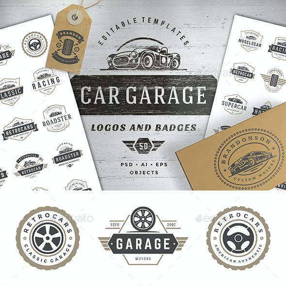 Car Garage Badges & Logos
