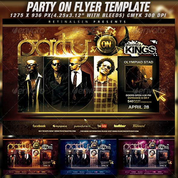 Party On Flyer Template
