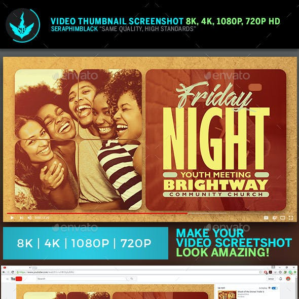 Youth Group YouTube Video Thumbnail Artwork Template