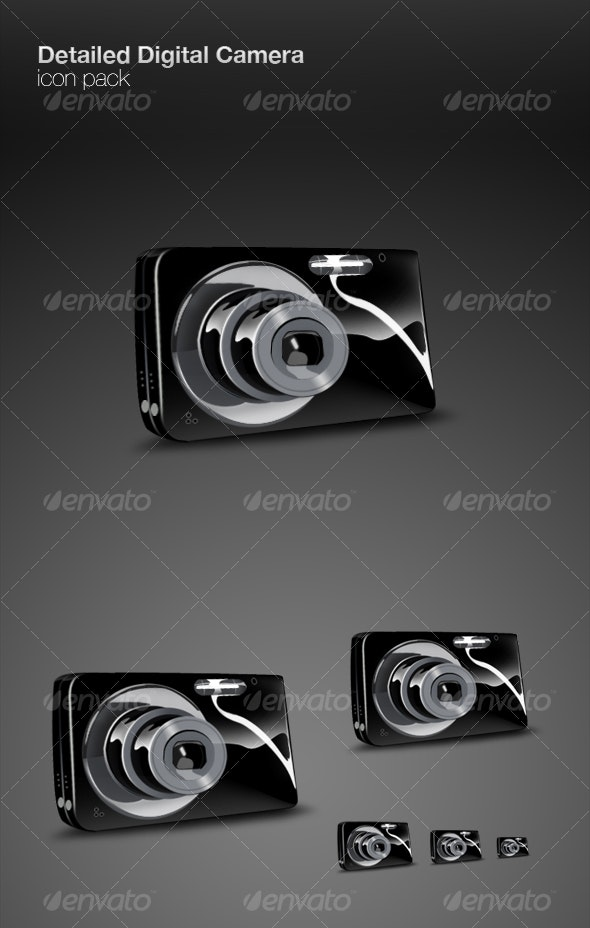 Detailed Digital Camera icon pack - Technology Icons