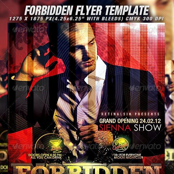 Forbidden Flyer Template