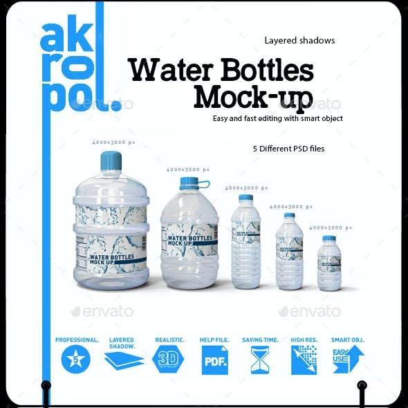 Water Bottles Mock-up