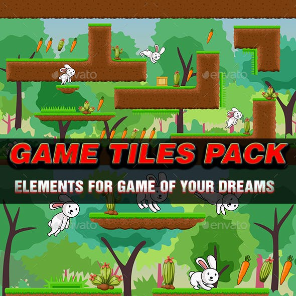 Mud and Grass Game Tiles Pack Suitable for Endless Runner Games