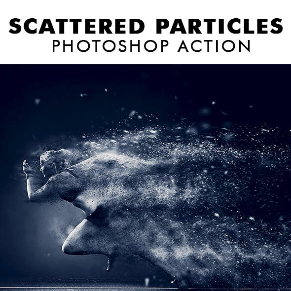 Scattered Particles Photoshop Action