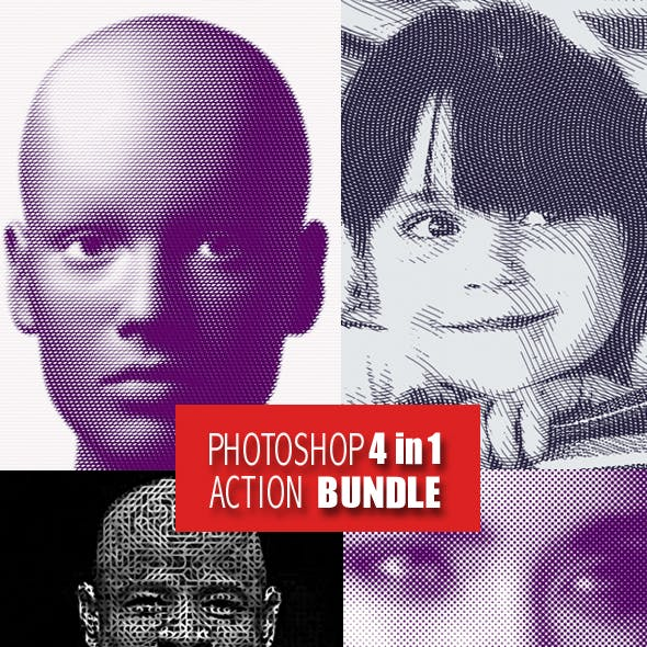 Photoshop 4in1  Actions Bundle 2