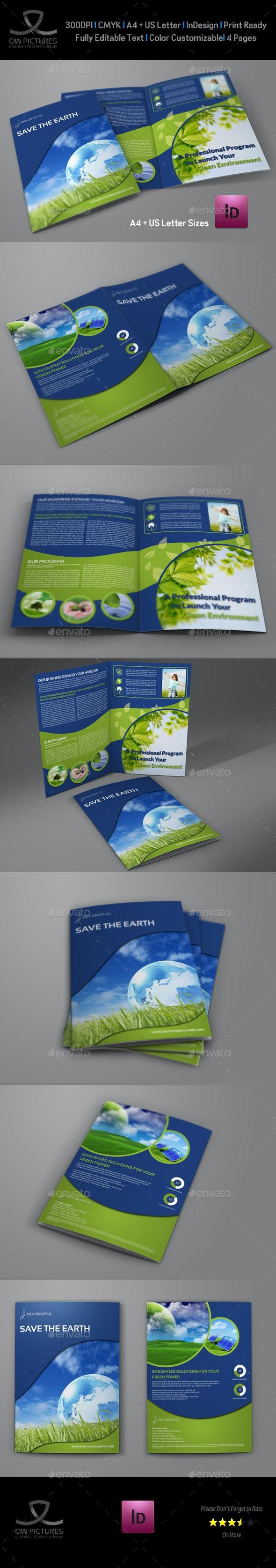 Environment ECO Bi-Fold Brochure Template - Brochures Print Templates