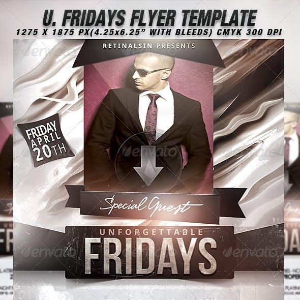 Unforgettable Fridays Flyer Template