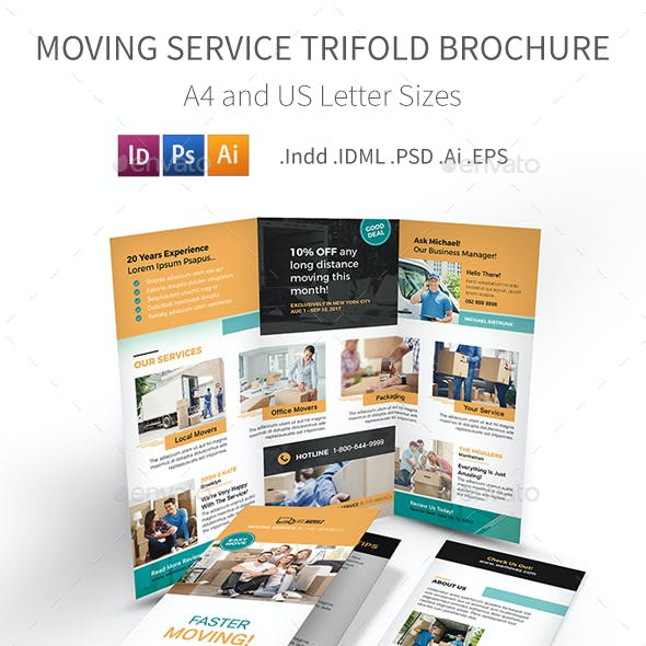 Moving Service Trifold Brochure 2