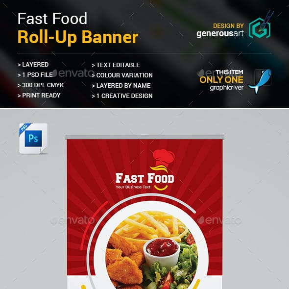 Fast Food Roll-up Banner