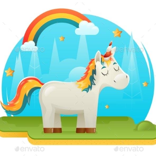 Cartoon Unicorn Fantasy Animal Sweet Dream