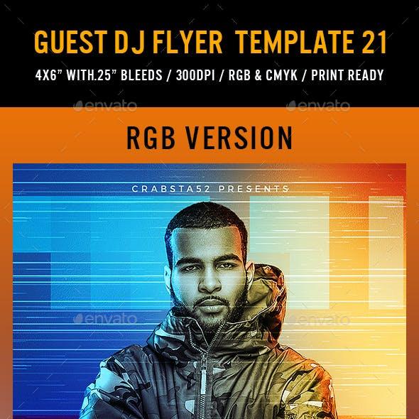Guest DJ Flyer Template 21