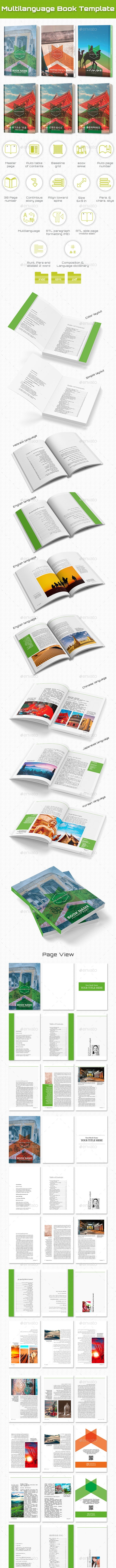 Indesign Multilanguage Book Template - Miscellaneous Print Templates