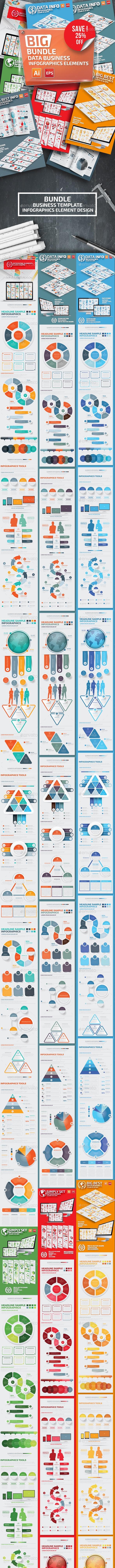 Big Bundle Data Infographics Template - Infographics