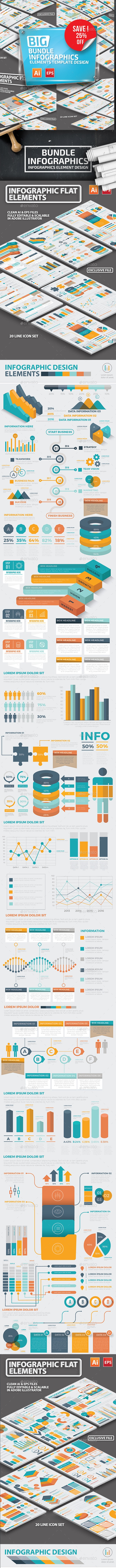 Bundle Infographic Elements - Infographics