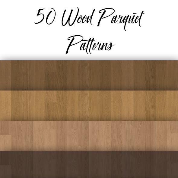 50 Seamless Wood Parquet Patterns