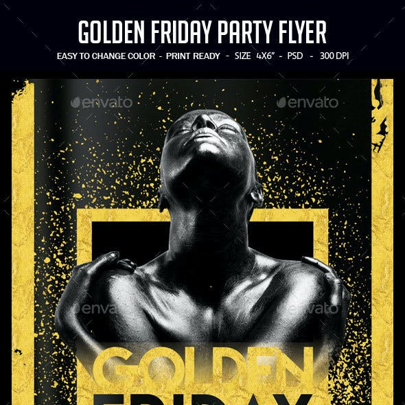 Golden Friday Party Flyer