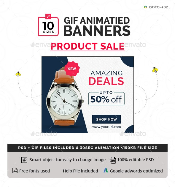 Product Sale Animated GIF Banners - Banners & Ads Web Elements