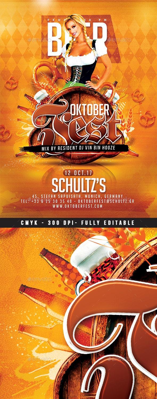 Oktober Beer Fest - Events Flyers