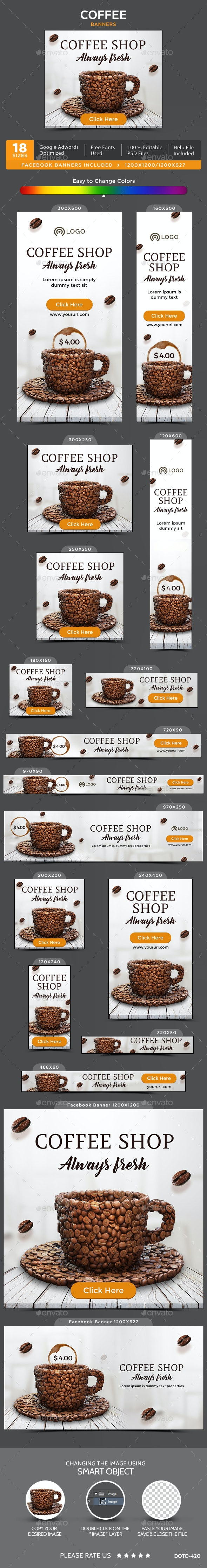 Coffee Banners - Banners & Ads Web Elements