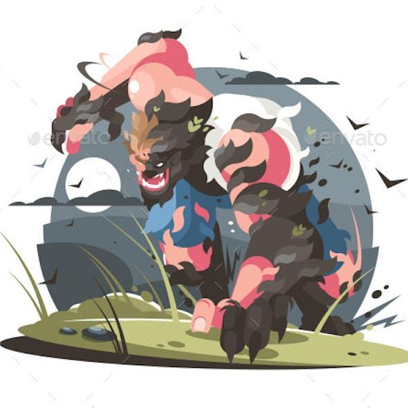 Werewolf to Turn From Man to Wolf