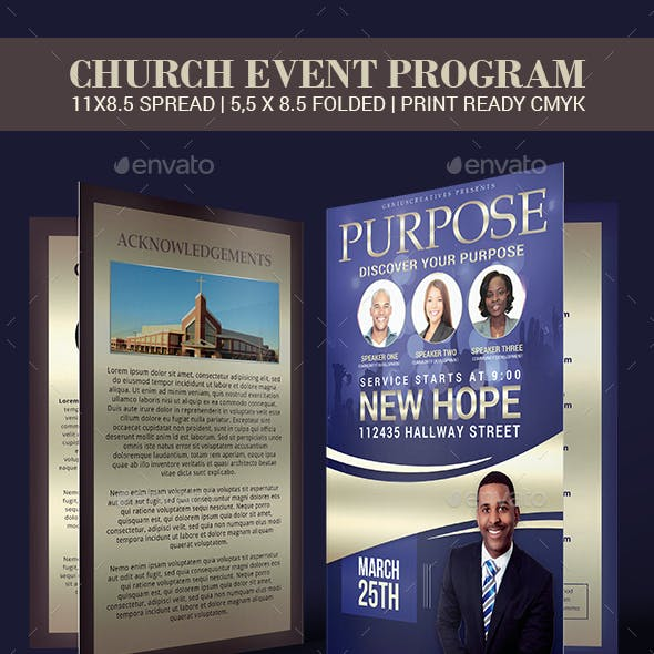 Purpose Church Program Template