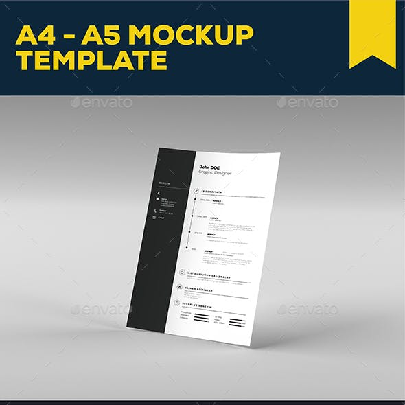 A4 - A5 Mock-up Template