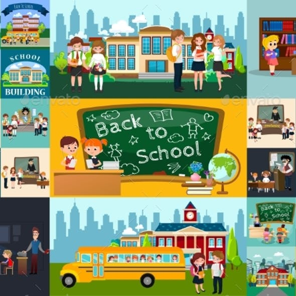 Back to School Set of Pictographs