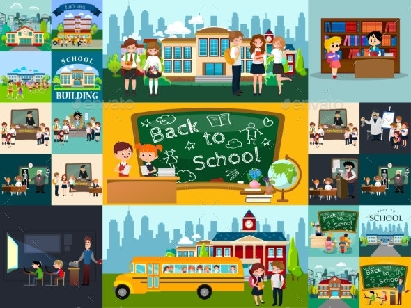 Back to School Set of Pictographs - People Characters