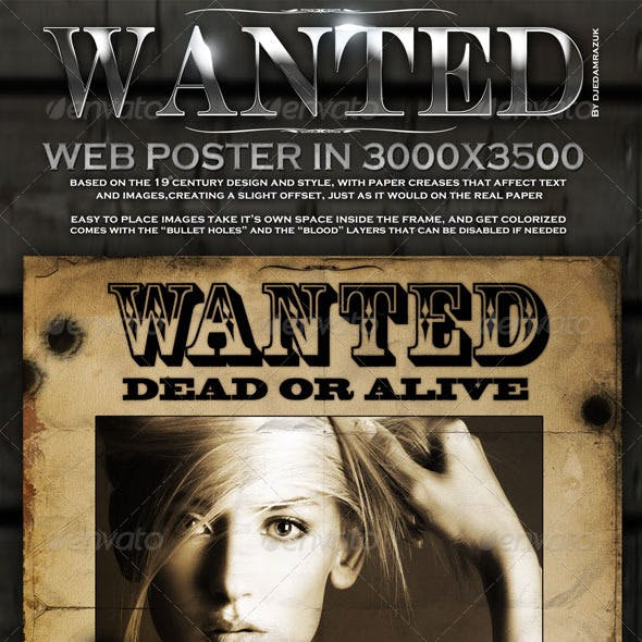 "Old ""Wanted"" Poster - Editable"