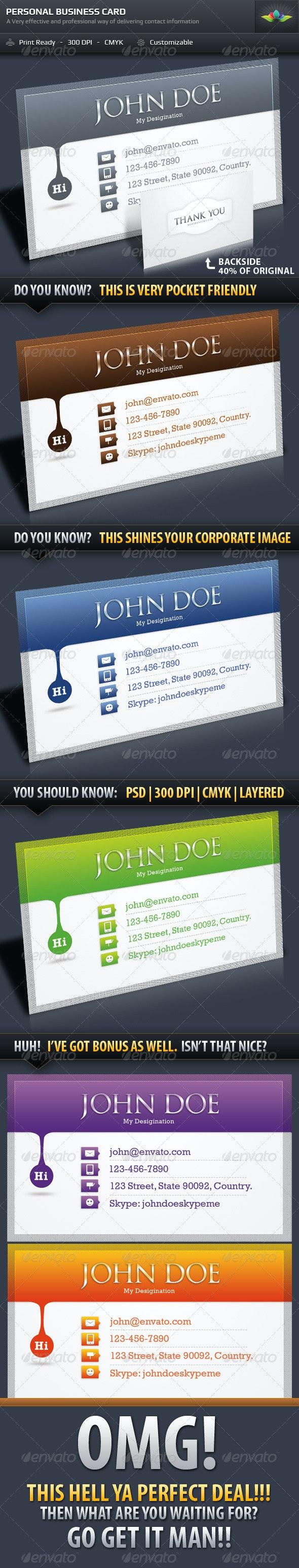 Personal Business Card Design By Saptarang  - Corporate Business Cards