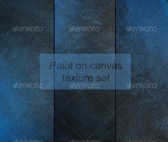 Blue paint on canvas - Art Textures