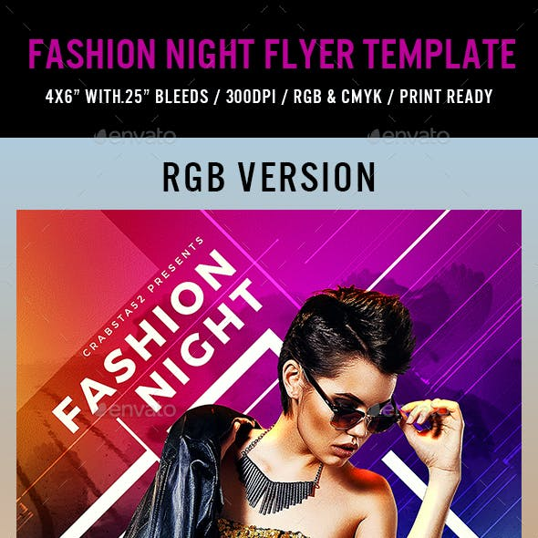 Fashion Night Flyer Template