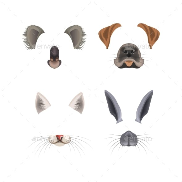 Animal Face Filter Template Video Chat Photo