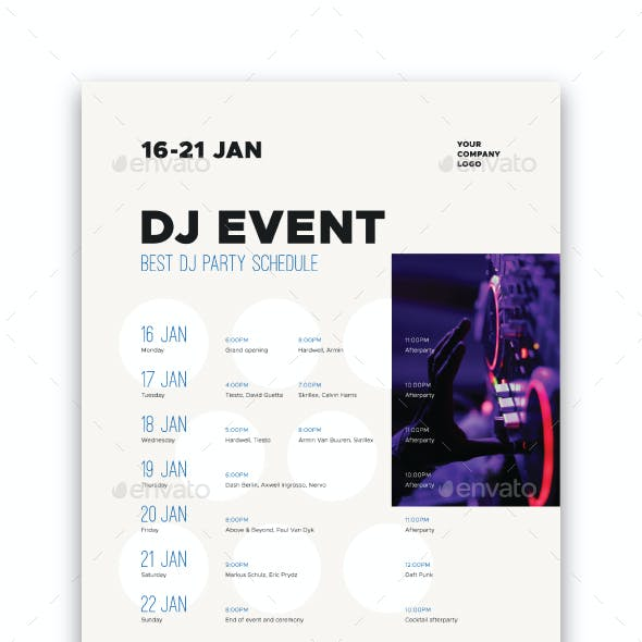 Schedule Event Poster Template