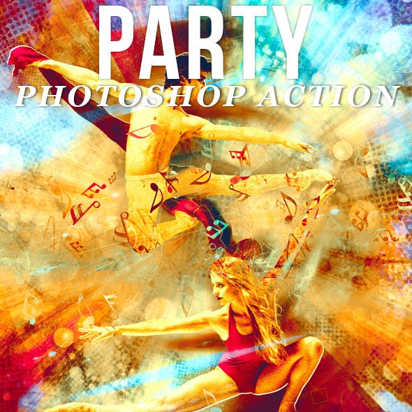 Party Photoshop Action