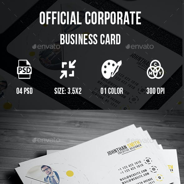 Official Corporate Business Card