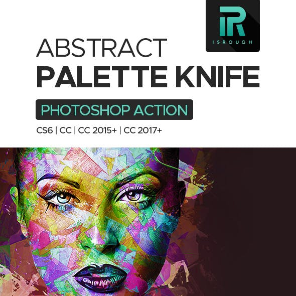 Abstract Palette Knife Action