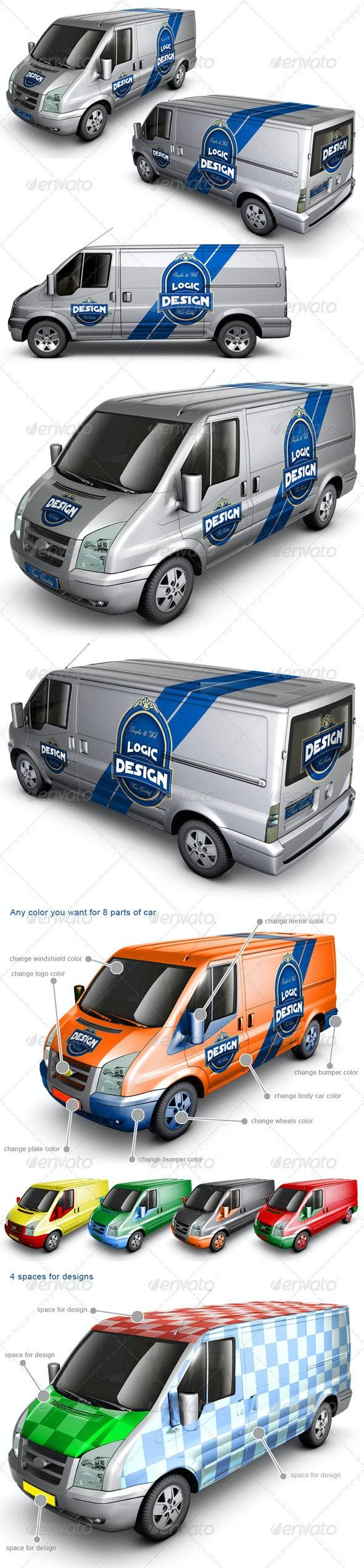 Van Car Mock Up - Vehicle Wraps Print