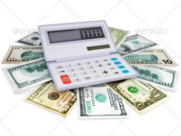 Electronic Calculator and Cashes - Miscellaneous 3D Renders
