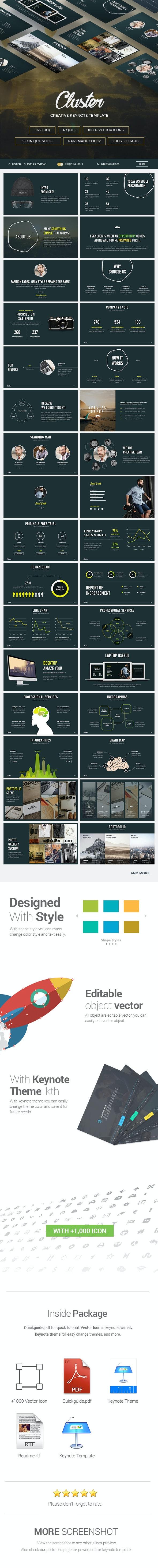 Cluster - Creative Keynote Template - Creative Keynote Templates