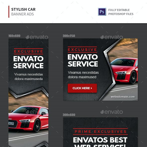 Stylish Car Banners