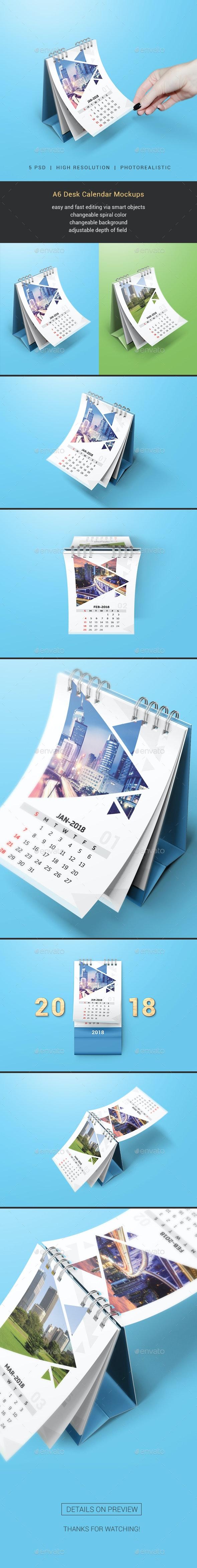 Desk Calendar Mockups - Miscellaneous Print