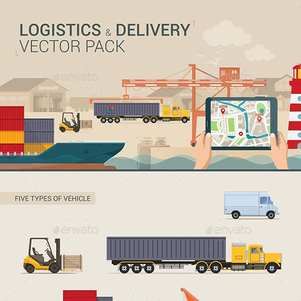 Logistics and Delivery Vector Pack