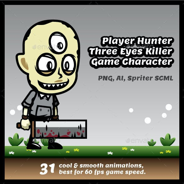 Player Killer - Three Eyes Hunter Game Character