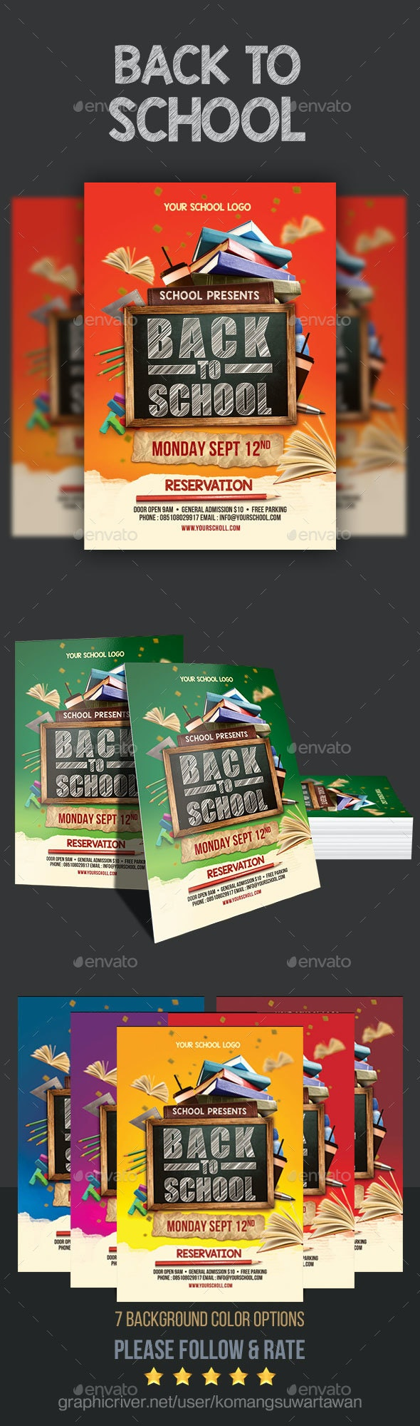 Back To School Flyer - Holidays Events
