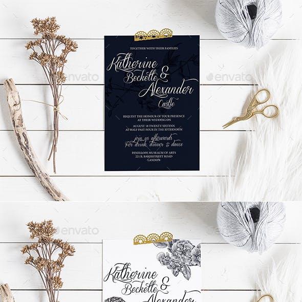 Birdy Wedding Invitation & Rsvp