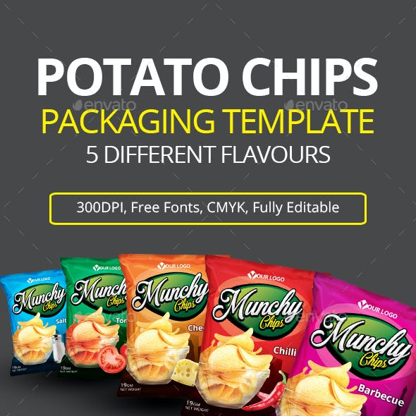 POTATO CHIPS PACKAGING TEMPLATE